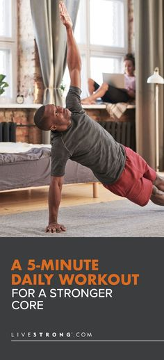 With this daily core workout you won't need to spend an hour on abs at the gym. All you need is a few feet of space and five spare minutes to strengthen your midsection. Reverse Crunches, Knee Up, Exercise Routines, Strength Training Workouts, Muscle Groups, Health And Wellbeing, Body Weight, Cardio, Exercises