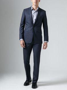 Ben Sherman Suiting  Wool Tonal Stripe Suit    I love the double pocket.
