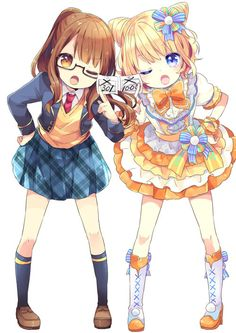 draw two bff with these outfits #wreckthisanime