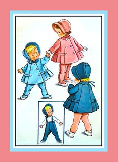 Adorabile European Style -Toddler Sunday Best -Coat -Bonnet - Leggings -Sewing Pattern-Size Six Months -Very Collectibile