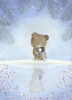 Dubravka Kolanovic - Winter scene / Bear and penguin