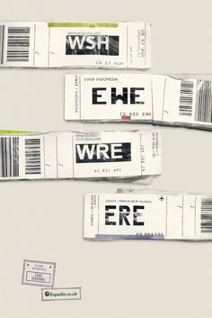 Great use of luggage tags by Ogilvy for expedia! http://www.itsnicethat.com/articles/ogilvy-expedia-campaign?utm_source=feedburner_medium=feed_campaign=Feed%3A+itsnicethat%2FSlXC+%28It%27s+Nice+That%29#