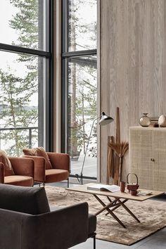 New home with a warm interior / interior design Interior Design Inspiration, Home Interior Design, Interior Architecture, Luxury Interior, Japan Interior, Interior Doors, Room Inspiration, Living Room Designs, Living Room Decor