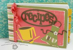 Booth #32: Recipe book - Uses a college ruled composition cut in half, then decorated. How cute!