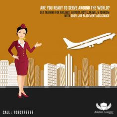 Are You Ready To Serve Around The World? Get Training for Airline, Airport, Hotel,Travel & Tourism With 100% JOB Placement Assistance  Call: 7090226999  #Airline #Hotel #Travel #Airport #cabincrew #FlightAttendant