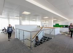 Office Staircase at CBRE. Office design by Interaction.