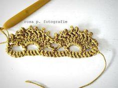 Nostalgia Border Edging #Crochet by maria beatriz