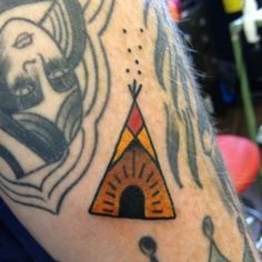 How cute is this little teepee tattoo?