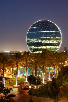 The Aldar headquarters building is the first circular building of its kind in the Middle Eas in Abu Dhabi, UAE Travel Share and enjoy! Abu Dhabi, Dubai Hotel, Dubai Uae, Dubai Trip, Dubai Travel, Luxury Travel, Beautiful Buildings, Beautiful Places, Places To Travel