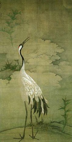 Kyoto 相国寺 鳴鶴図 - this would be a beautiful wallpaper! Korean Painting, Japanese Painting, Art Asiatique, Art Japonais, China Art, Korean Art, Japanese Prints, Japan Art, Ink Painting