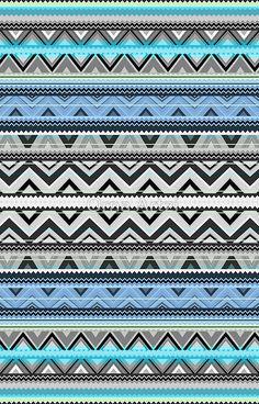 'Mix Double Size - Blue Aztec Pattern' iPhone Case by Orna Artzi Shemesh Pink Wallpaper Ios, Aztec Wallpaper, Print Wallpaper, Cellphone Wallpaper, Wallpaper Backgrounds, Iphone Backgrounds, Screen Wallpaper, Iphone Wallpapers, Tribal Patterns