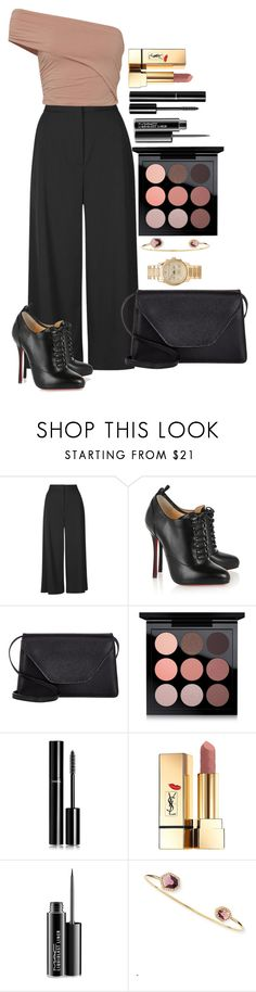 """""""Untitled #1458"""" by fabianarveloc ❤ liked on Polyvore featuring Proenza Schouler, Fuji, Christian Louboutin, Valextra, MAC Cosmetics, Chanel, Yves Saint Laurent, Tai and Michael Kors"""