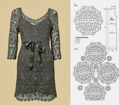 Elegance and charm blouse and dress in crochet. Graphic. - Crochet Designs Free