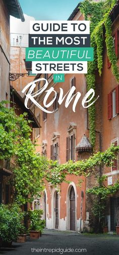 Guide to the Most Beautiful Streets in Rome. The cobblestone streets of Trastevere are filled with many of Rome's best restaurants tucked away inside charming buildings. See Rome's beautiful streets with my Trastevere walking tour. Italy Travel Tips, Rome Travel, Greece Travel, Places To Travel, Places To See, Travel Destinations, Cinque Terre, Walking Tour, Visit Rome