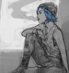 "theboyofcheese: "" Life is Strange "" Rachel Life Is Strange, Life Is Strange Fanart, Chloe Price, Overwatch, Arcadia Bay, Hells Angels, Weird Art, Best Games, Cool Drawings"
