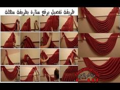 YouTube Swag Curtains, Dining Room Curtains, No Sew Curtains, How To Make Curtains, Window Drapes, Hanging Curtains, Elegant Curtains, Beautiful Curtains, Valance Patterns
