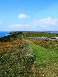 The Costal path on Caldey Island 26th June 2013