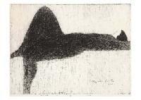 Kiyoshi Saito - NUDE(1), 1963, collagraph