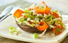 Sesame-Roasted Portobellos with Asparagus Slaw   Whole Foods Market