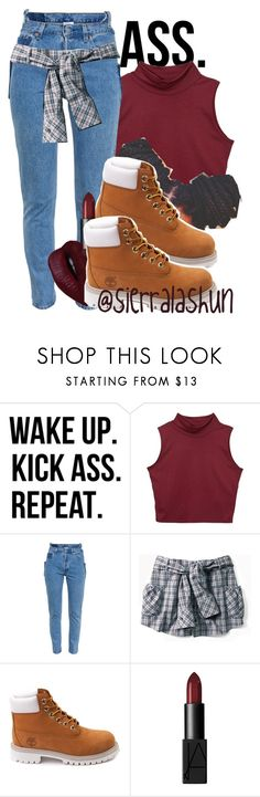 """He told me look back at it."" by sierralashun on Polyvore featuring Vetements, Timberland and NARS Cosmetics"