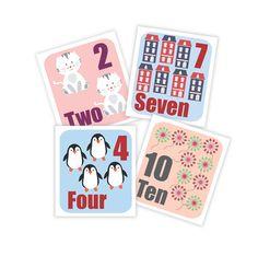 Números infantiles, imprimibles,  números, ilustración infantil, habitacion infantil, cuadros, decoracion infantil, animales infantiles