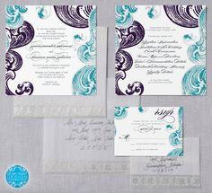 ZAARA Classic Wedding Invitation Suite by BeMyGuestDesign