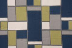 Premier Prints Hopscotch-Natural Drapery Fabric in Felix CLOSEOUT