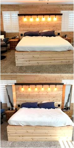 Unique Furniture Ideas With Old Shipping Pallets - Wooden Furniture Projects Wooden Pallet Shelves, Wooden Pallet Table, Wood Pallet Beds, Wooden Pallets, Pallet Furniture, Bathroom Furniture, Wooden Box Designs, Pallet Designs, Bed Designs