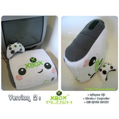 Xbox 360 Plushie Version 2 For Sale - Microsoft - Gizmodo ❤ liked on Polyvore featuring toys and microsoft