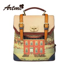 Aliexpress.com : Buy Artmi apm0030 fashion trend of the vintage women's backpack handbag preppy style school bag from Reliable bags summer s...
