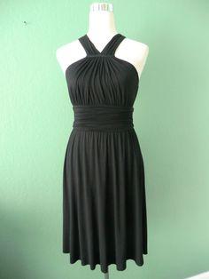 NWT VELVET BY GRAHAM & SPENCER BLACK TIERED PLEATED SLEEVELESS DRESS USA SMALL #Velvet #Tiered