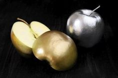 Gold and Silver Food Coloring on apples!   At a Narnia themed party I would totally want this!!! :D