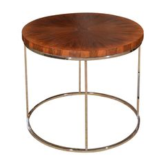 Mid Century Rosewood And Chrome Side Table By Milo Baughman