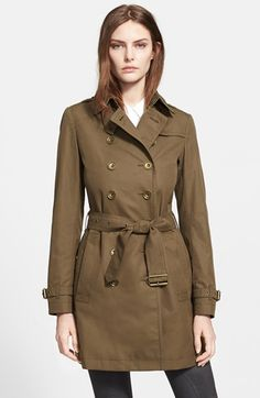 Burberry Brit 'Crombrook' Cotton Trench Coat available at #Nordstrom via @simplylulustyle