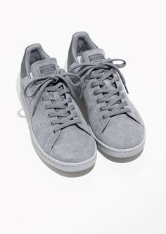 & Other Stories image 2 of adidas Stan Smith Suede in Grey