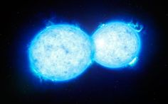 Astronomers have found the hottest and most massive double star with components so close that they touch each other. The extreme system VFTS 352 is composed of two very hot, bright and massive stars that orbit each other in little more than a day. The two stars could be heading for a dramatic end, during which the two stars either coalesce to create a single giant star, or form a binary black hole. The double star system is located about 160 000 light-years away in the Tarantula Nebula.