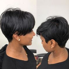 Get more inspiration and share your own new look now! Short Curly Pixie, Natural Hair Styles, Short Hair Styles, Body Check, New Look, Salons, Style Me, Hair Cuts, American