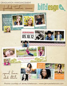 Facebook Timeline Cover Collection  Graduation by birdesign, $18.00