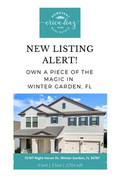 Expect to be amazed with this beautiful and modern 4 bedroom 3 bath Winter Garden family home located in the highly desirable Summer lake community! Florida Homes For Sale, Florida Living, Windermere, Central Florida, Winter Garden, Home Buying, Orlando, Home And Family, Real Estate