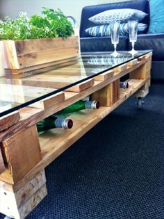 11 DIY Glass Table Projects - A&D Blog