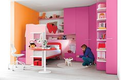 Fascinating Girls Bedroom Decorating Ideas: Excellent Girl Bedroom Pink Colors Wall Small Beds Decorating Design Ideas ~ mutni.com Bedroom Design Inspiration