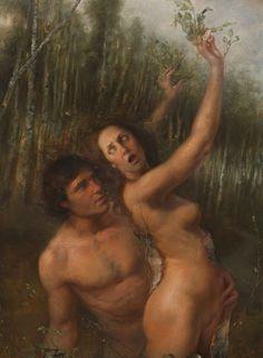 Helene Knoop - Apollo and Daphne. Tags: apollo, apollon, daphne, dafne, transformation, naiads, nymphs,