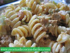 Recetas de cocina faciles - Ensalada  fría de pasta y atún