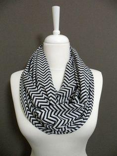 Chevron morbido Jersey Infinity sciarpa Zig Zag di Aslidesign, $16.00