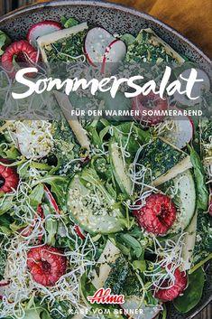Zaubern sie ihren Sommersalat in nur 20 Minuten. Perfekt für warme Sommerabende. Seaweed Salad, Ethnic Recipes, Food, Summer Evening, Easy Cooking, Fast Recipes, Good Food, Essen, Meals