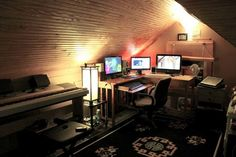 If music is more your thing, turn your attic into a recording and mixing studio.