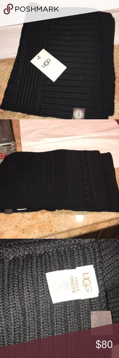 Ugg authentic scarf Black never worn UGG Accessories Scarves & Wraps