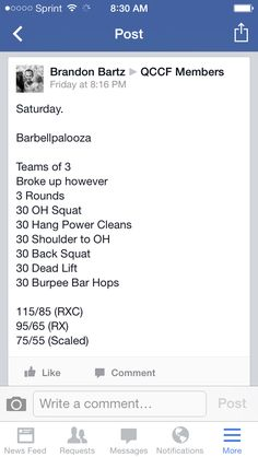 Crossfit partner wod