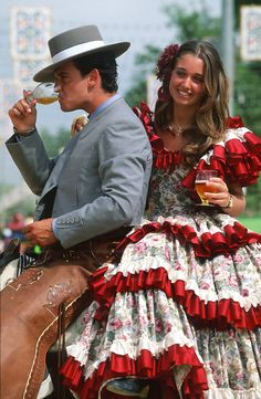 """SPAIN / Celebrations / """"Seville April Fair"""" is held in Andalusian capital of Seville, begins two weeks after the Easter Holy Week. The fair begins at midnight on Monday, and runs six days."""