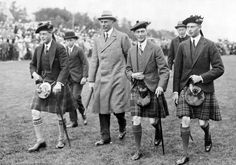From left: Edward, Prince of Wales; Alexander, Earl of Athlone; Prince Albert and Prince Henry, ca 1920